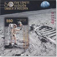 50 Jahre Mondlandung: Apollo 11 - Briefmarkenblock postfrisch ungezähnt, Ungarn