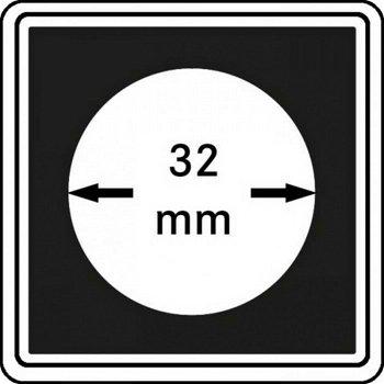 Münzkapseln CARRÉE 32 mm, 4er Pack, LI 2240032