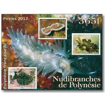 Nacktkiemer - Briefmarken-Block postfrisch, Polynesien