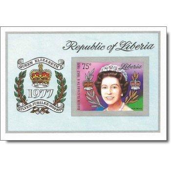 25 Jahre Regentschaft von Königin Elisabeth II. – Briefmarken-Block postfrisch, ungezähnt, Katalog-N