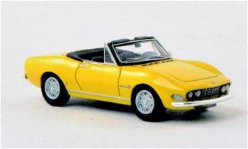 Modellauto:Fiat Dino Spider 2000 von 1966, gelb(NEO, 1:87)