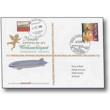 Zeppelin NT, Friedrichshafen - Altenrhein - Christmas mail 2006, receipt, Switzerland