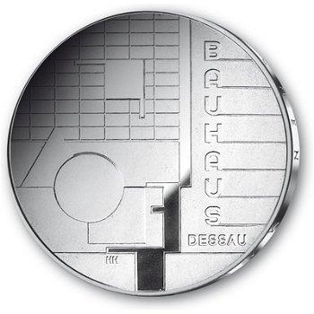 Bauhaus Dessau, 10 euro silver coin 2004, brilliant uncirculated