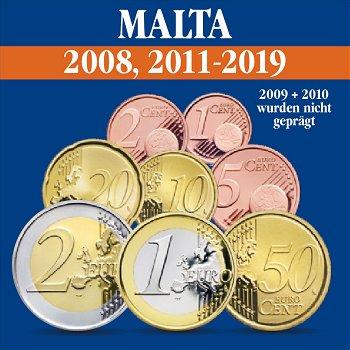 Malta – Kursmünzensätze alle Jahrgänge 2008, 2011 - 2019