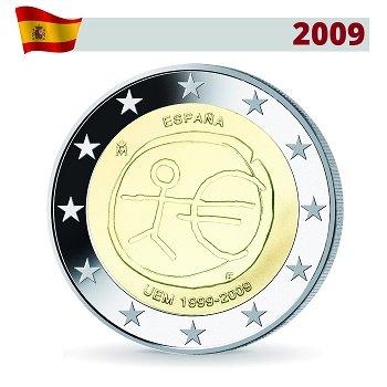2 Euro Münze 2009, Wirtschafts- und Währungsunion, Spanien