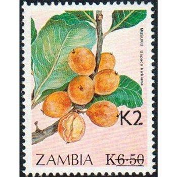 Zuckerpflaume - Briefmarke mit lokalem Aufdruck, Katalog-Nr. 578, Sambia
