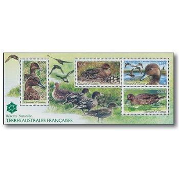 Enten - Briefmarken-Block postfrisch, Katalog-Nr. 793-796 Bl. 33, Französische Gebiete in der Antark