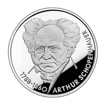 """10-DM-Silbermünze """"200. Geburtstag Arthur Schopenhauer"""", Stempelglanz"""