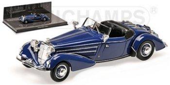 Modellauto:Horch 855 Special Roadster von 1938, blau(Minichamps, 1:43)