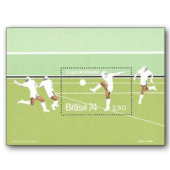 WM in Deutschland 1974 - Briefmarken-Block postfrisch, Block 34, Brasilien