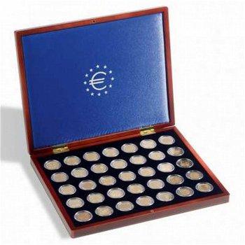 Münzkassette Volterra Uno de Luxe für 35 2-Euro-Münzen in Kapseln, Leuchtturm 323638