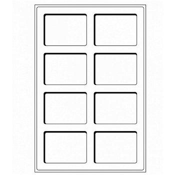 Münztableau L mit 8 Fächern für US-Münzenkapseln SLABS u. Sammelobjekte, blau, 2er Set, Leuchtturm 3