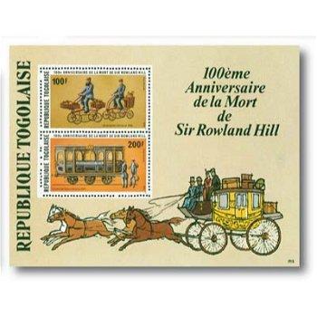 100. Todestag Sir Rowland Hill - Briefmarken-Block postfrisch, Togo