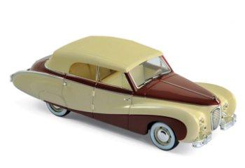 Modellauto:Austin A 125 Sheerline von 1947, beige-dunkelrot(Norev, 1:43)