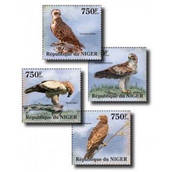 Raubvögel - 4 Briefmarken postfrisch, Niger
