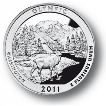 Olympic/Washington, Nationalpark Quarter Münze, USA