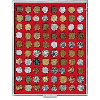 LINDNER Münzenbox, quadratische Vertiefungen 24mm, LI 2180, Standard
