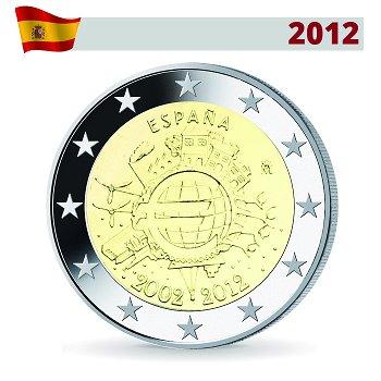 2 Euro Münze 2012, 10 Jahre Euro, Spanien