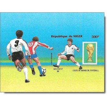 Fußball-Weltmeisterschaft 1986, Mexiko - Briefmarken-Block ungezähnt postfrisch, Katalog-Nr. 995 Bl.