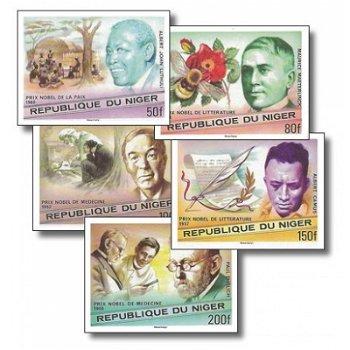 75 Jahre Nobelpreisverleihung - 5 Briefmarken ungezähnt postfrisch, Katalog-Nr. 586-590, Niger