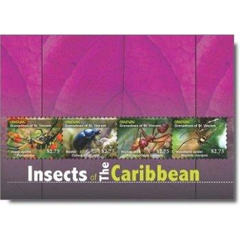 Insekten - Briefmarken-Block postfrisch, St. Vincent und Grenadinen