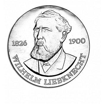 """20-Mark-Münze 1976 """"150. Geburtstag von Wilhelm Liebknecht"""", DDR"""