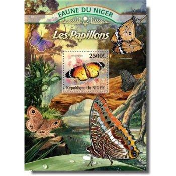 Schmetterlinge - Briefmarken-Block postfrisch, Niger