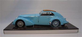 Modellauto:Alfa Romeo 8C 2900 Lungo B von 1937, hellblau(Minichamps, 1:18)