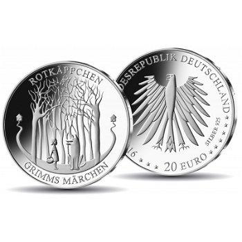 Rotkäppchen, 20 Euro Silbermünze Polierte Platte, Deutschland