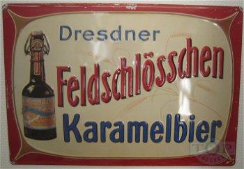 Blechschild:Feldschlösschen Karamelbier(49 x 34 cm)