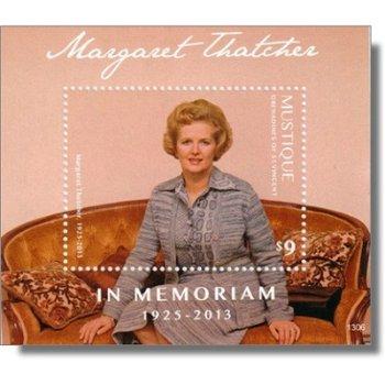 Margaret Thatcher - Briefmarken-Block postfrisch, St. Vincent & Grenadinen