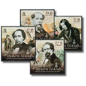 200. Geburtstag von Charles Dickens - 4 Briefmarken postfrisch, Katalog-Nr. 869-872, Pitcairn