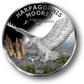 Adler, 1000 Franc Silbermünze mit Farbauflage, Gabun