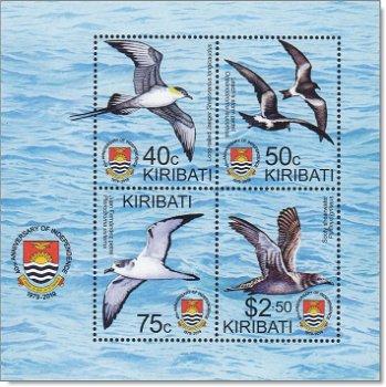 40 Jahre Unabhängigkeit: Vögel - Briefmarken-Block postfrisch, Kiribati