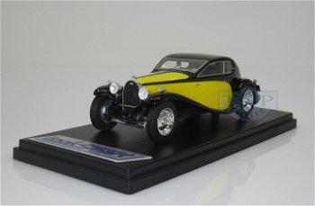 Modellauto:Bugatti 50T Superprofilée, gelb-schwarz(Look Smart, 1:43)