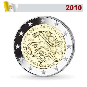 2 Euro Münze 2010, Priesterjahr, Vatikan
