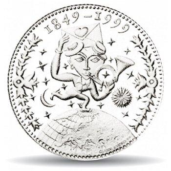 150 Jahre Post, 20 Franken Münze 1999 Schweiz, Stempelglanz