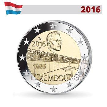 2 Euro Münze 2016, Großherzogin-Charlotte-Brücke, Luxemburg