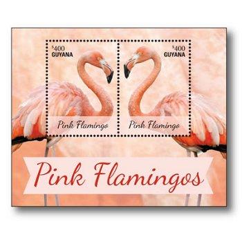 Flamingos - Briefmarken-Block postfrisch, Guyana