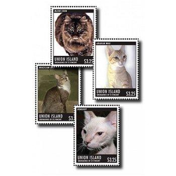 Katzenarten - Briefmarken-Block postfrisch, St. Vincent & Grenadinen