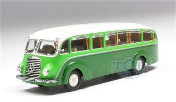 Modellbus:Mercedes-Benz LO 3500 Bus, grün-beige(Premium ClassiXXs, 1:43)