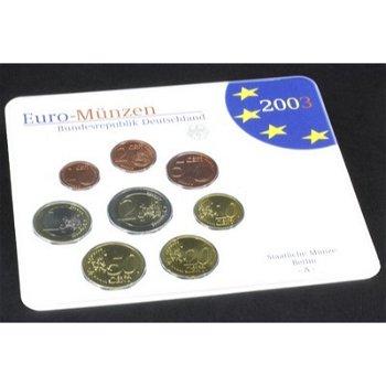 Kursmünzensatz 2003 im Folder, Stempelglanz (mit allen Prägestätten), Deutschland