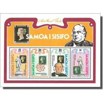 100. Todestag von Rowland Hill – Briefmarken-Block postfrisch, Katalog-Nr. 415-418, Block 19, Samoa