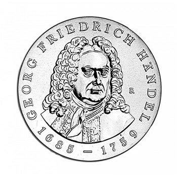 225. Todestag Georg Friedrich Händel, 20 Mark Münze 1984, DDR