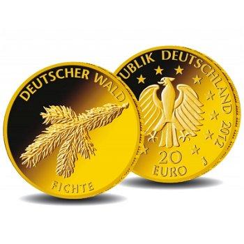 20 Euro Goldmünze 2012 , Deutscher Wald: Fichte