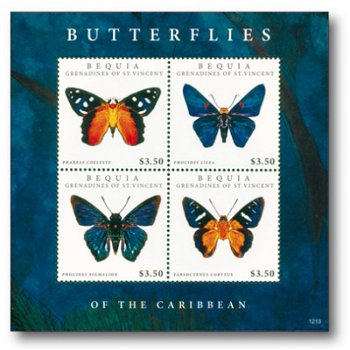 Schmetterlinge - Briefmarkenblock postfrisch, St. Vincent