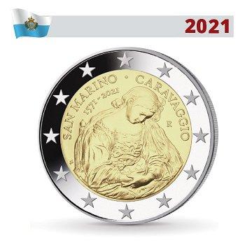 450. Geburtstag von Caravaggio - 2 Euro Münze 2021, San Marino