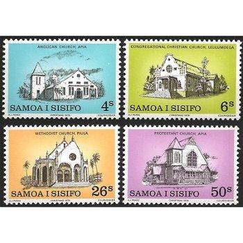 Weihnachten – vier Briefmarken postfrisch, Katalog-Nr. 419-422, Samoa