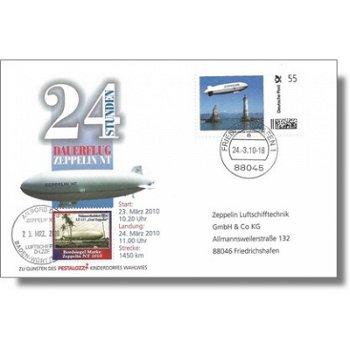 Zeppelin NT, 24-Stunden-Dauerflug - Beleg, Deutschland