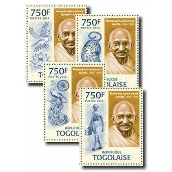 Mahatma Gandhi - 4 Briefmarken postfrisch, Togo